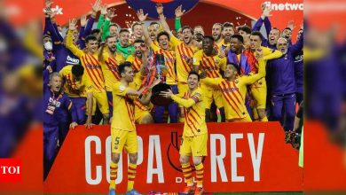 Sensational Lionel Messi scores twice as Barcelona beat Athletic Bilbao to win Copa del Rey | Football News - Times of India