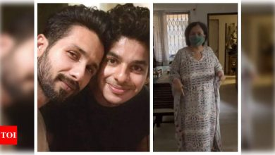 Shahid Kapoor comments on Ishaan Khatter's video of their mother Neelima Azim throwing tantrums over chocolate - Times of India