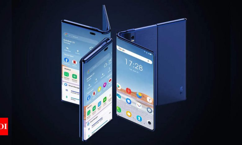 TCL showcases first Fold 'n Roll smartphone - Times of India