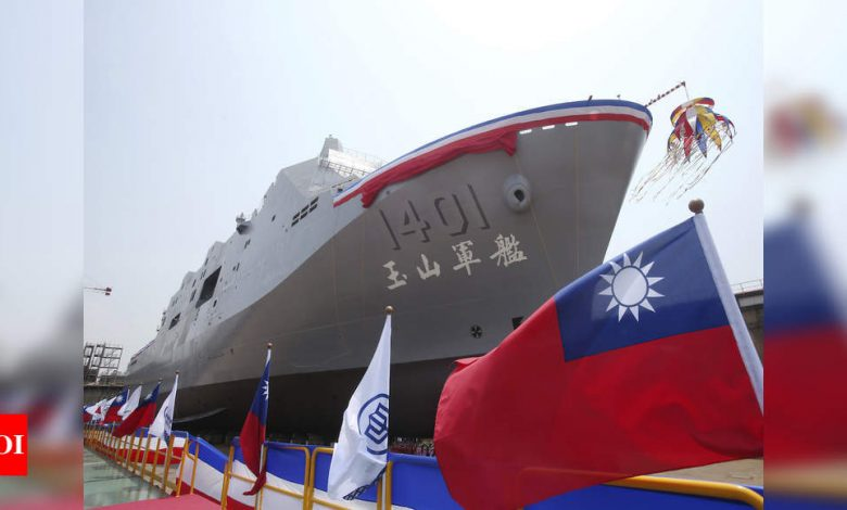 Taiwan bolsters navy with unveiling of new amphibious warfare ship - Times of India