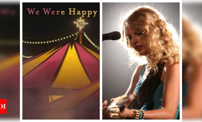 Taylor Swift releases 'We Were Happy' from the vault; emotional Swifties flood Twitter with hilarious 'sad' memes - Times of India