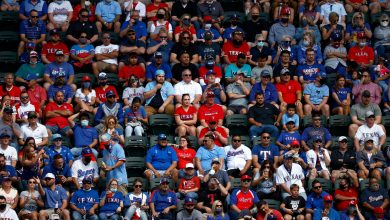 Texas Rangers host near-capacity crowd for home opener