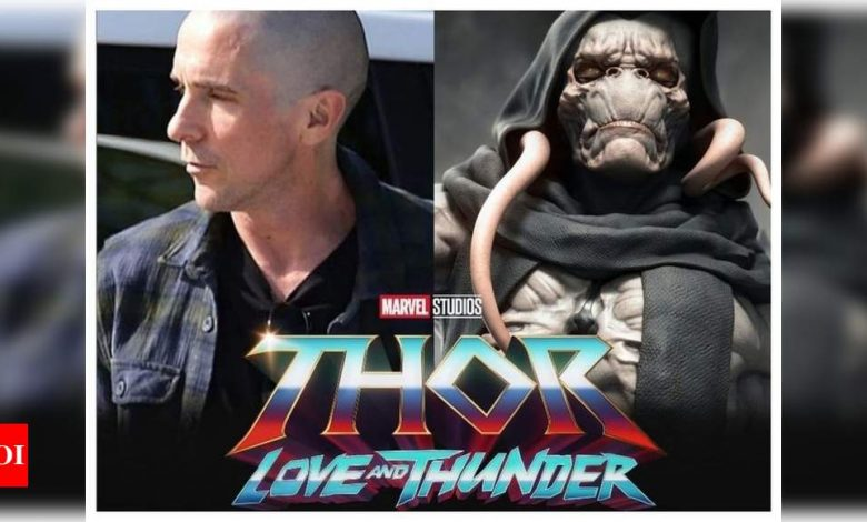 'Thor: Love and Thunder': Christian Bale debuts bald look for his villainous role as Gorr the God Butcher - Times of India