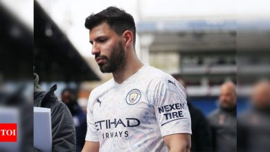 Aguero fires Manchester City to brink of Premier League title | Football News - Times of India
