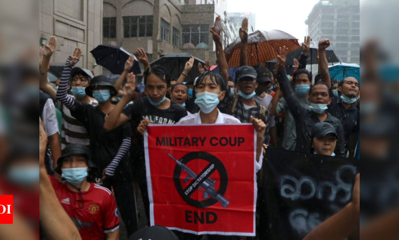 Myanmar protesters march three months after coup; UN warns of 'standstill' - Times of India