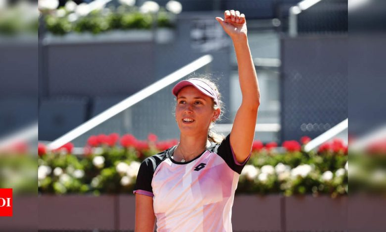Simona Halep knocked out of Madrid Open by Elise Mertens | Tennis News - Times of India
