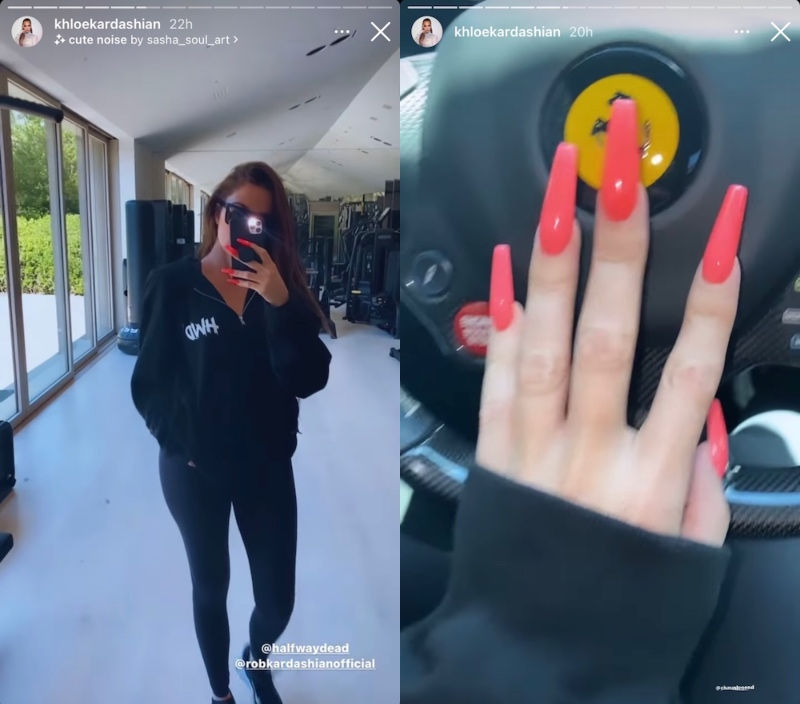 KUWTK Khloe Kardashian Shows Off Ring-Free Hand