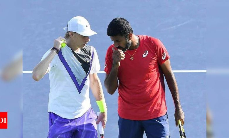 Rohan Bopanna-Denis Shapovalov go down fighting in Madrid Open quarters | Tennis News - Times of India