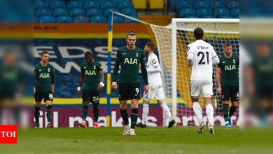 Premier League: Spurs top-four bid hit by loss at Leeds | Football News - Times of India