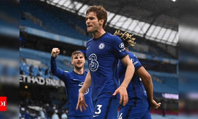Chelsea beat Man City to delay Premier League title party   Football News - Times of India