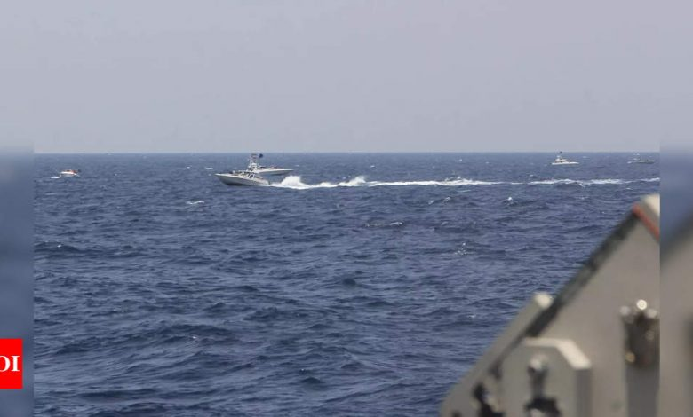Iran's Guards blame US ship for warning shots incident in Gulf - Times of India