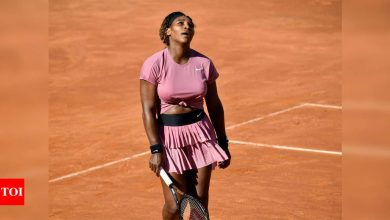 Serena Williams, playing her 1000th career match, crashes out of Italian Open   Tennis News - Times of India