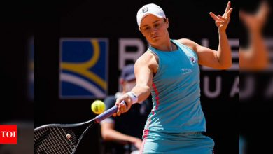 World No.1 Ash Barty retires injured in Rome, two weeks from Roland Garros   Tennis News - Times of India