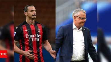 Zlatan Ibrahimovic out of Euros, says Sweden coach Andersson | Football News - Times of India