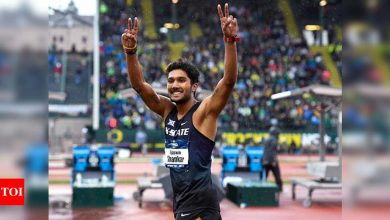Tejaswin Shankar wins consecutive high jump titles in USA   More sports News - Times of India