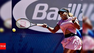 Serena Williams crashes out in second round in Parma   Tennis News - Times of India