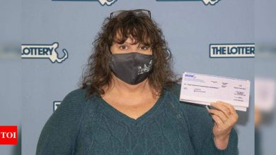 Woman gets back $1 million lottery ticket she had thrown away - Times of India