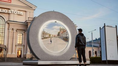 Vilnius, Lithuania built a 'portal' to another city to help keep people connected