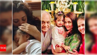 Aishwarya Rai Bachchan embraces motherhood by sharing adorable pictures of her 'love' and 'life' Aaradhya on Mother's Day - Times of India