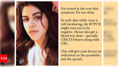 Alaya F shares some important tips and information on COVID-19 with her fans - Times of India