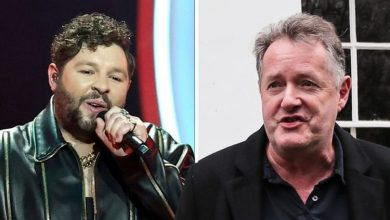 'At least I didn't storm out!' James Newman clashes with Piers Morgan over Eurovision jibe