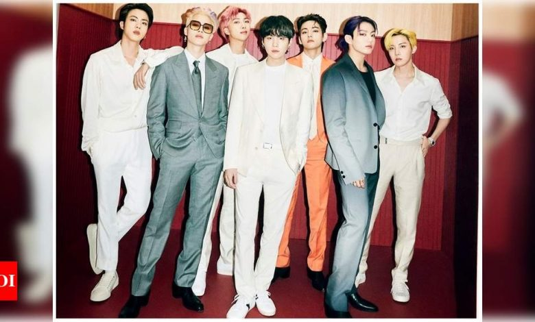 BTS suits up for the first Butter teaser image - Times of India