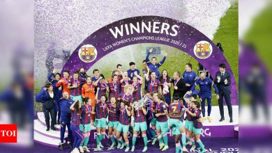 Barcelona thrash Chelsea to win women's Champions League for first time   Football News - Times of India