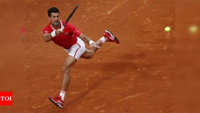 Beaten Novak Djokovic hits right notes on clay in Rome   Tennis News - Times of India