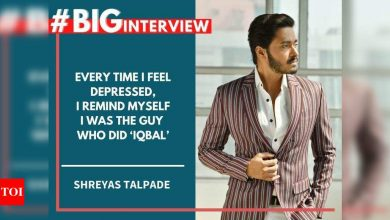 #BigInterview! Shreyas Talpade: Every time I feel depressed, I remind myself that I was the guy who did 'Iqbal' - Times of India