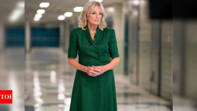 Can you guess what's painted on the purse of First Lady of America, Jill Biden? - Times of India