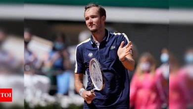Daniil Medvedev gets monkey off his back with first French Open win   Tennis News - Times of India