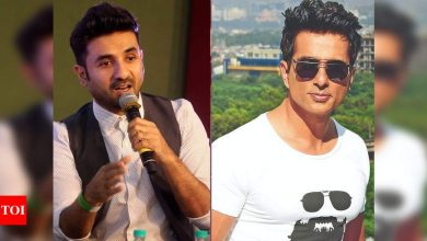 """""""Dial Sonu Sood,"""" says Vir Das as fan asks him to be the next PM - Times of India"""