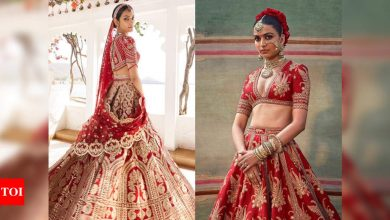 Fashion escapism: Best red lehengas to bookmark for your wedding - Times of India