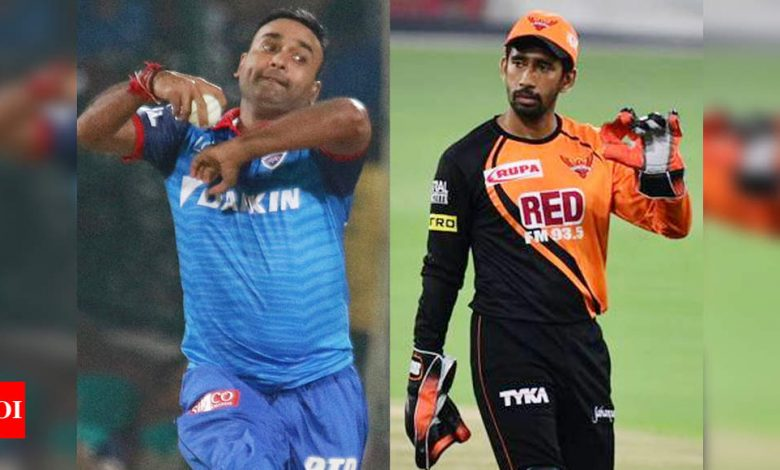 IPL 2021: COVID hits SRH and DC camps - Wriddhiman Saha and Amit Mishra test positive   Cricket News - Times of India