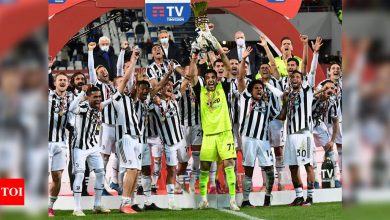Juventus win Italian Cup for 14th time as fans return | Football News - Times of India