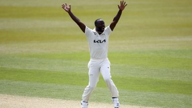 Kemar Roach eight-for consigns Hampshire to heavy first defeat of season