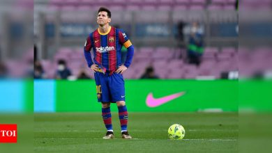 Laporta 'moderately optimistic' Messi will stay at Barcelona   Football News - Times of India