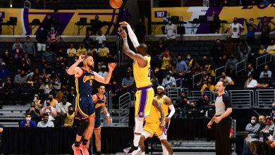 LeBron James' late heave propels Lakers past Warriors and into playoffs