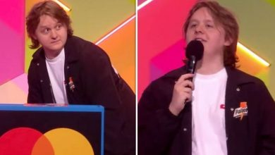 Lewis Capaldi leaves Brits viewers baffled as he tells crowd to 'shut up' in muted speech