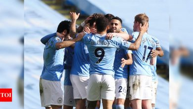 Manchester City crowned Premier League champions as Leicester win at Man United | Football News - Times of India