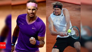 Nadal set for Zverev rematch in Rome   Tennis News - Times of India