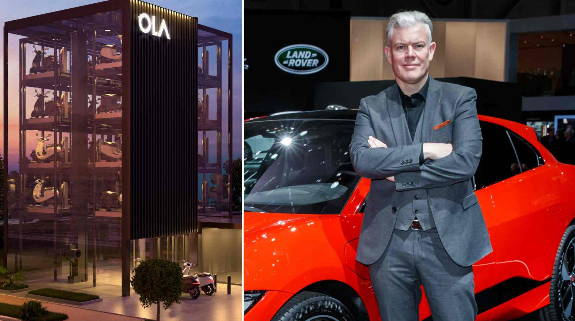 Burgess will lead the design process for Ola Electric's entire product range including scooters, bikes, cars and more, the company said in a statement. Image: Ola Electric/Jaguar/Tech2