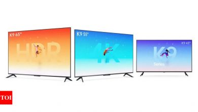 Oppo Smart TV K9 series launched in China with 60Hz refresh rate and quad-core processor - Times of India