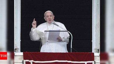 Pope denounces violence between Israel, Hamas - Times of India