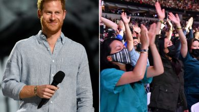 Prince Harry gets rock-star greeting at star-studded Vax Live concert