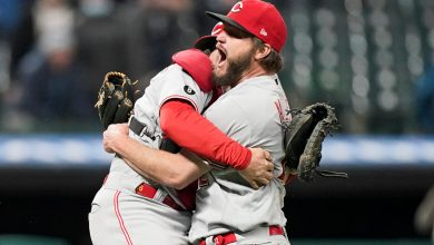 Reds' Wade Miley no-hits Indians wearing son's fitting good-luck charm