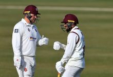 Saif Zaib, Adam Rossington hand Northamptonshire healthy first-innings lead