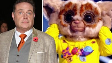 The Masked Singer star John Thomson 'nearly cried' about Bush Baby costume