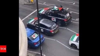 UK police probe video of antisemitic abuse hurled from cars - Times of India