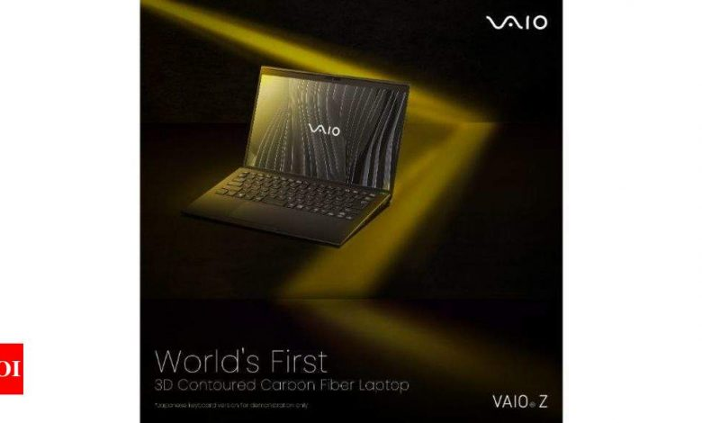 Vaio Z laptop launched in India with 11th Gen Intel Core i7 at Rs 3,52,990 - Times of India
